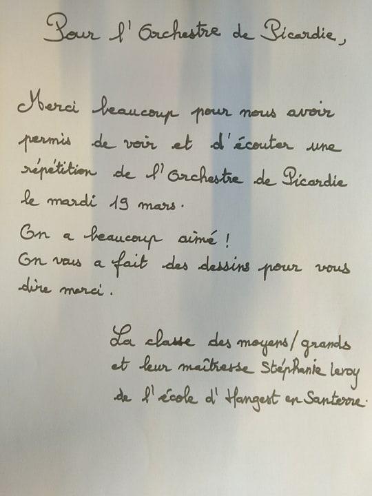 Photo Accueil aux répétitions